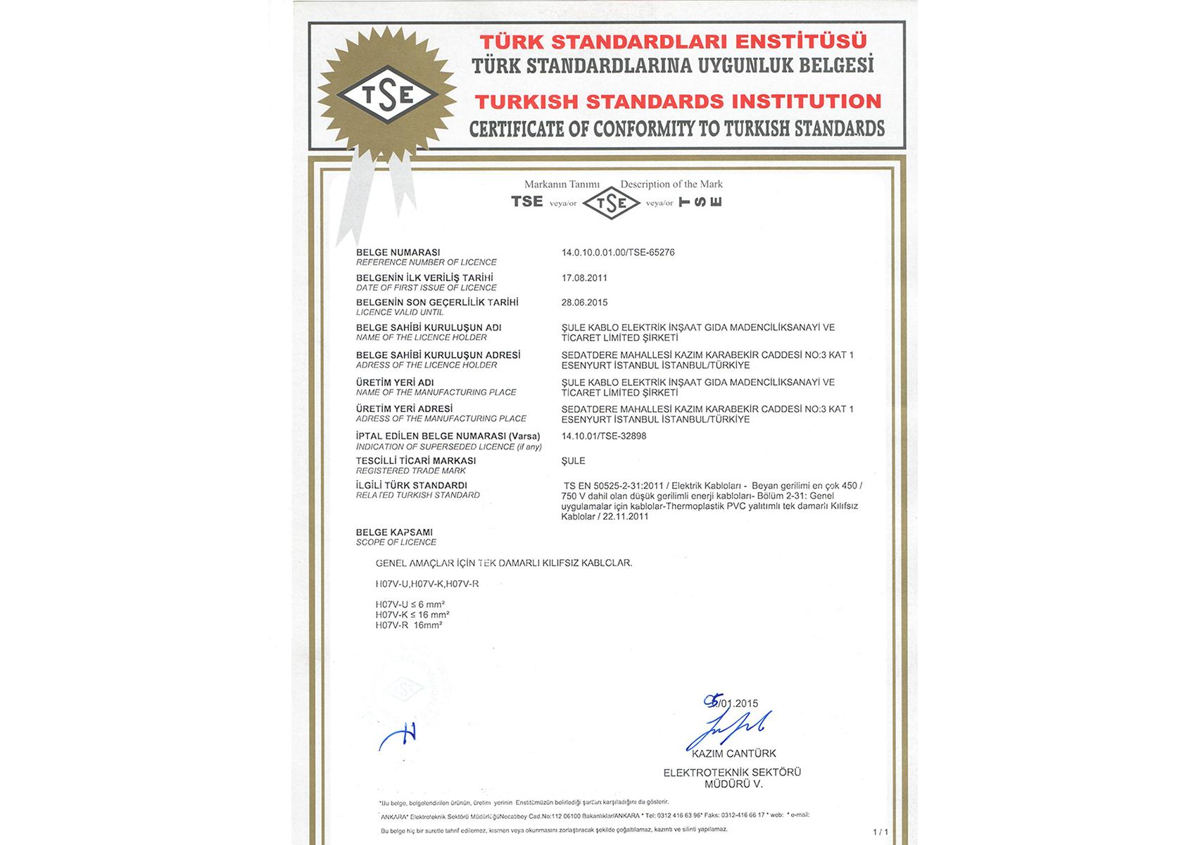 Türk Standartları Enstitüsü